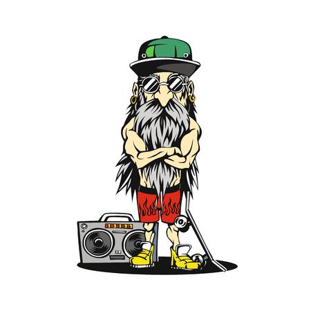 Grandpa swag illustration Minimal and High quality design.