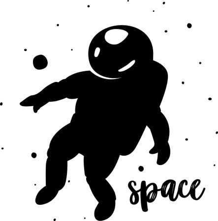 Astronaut at spacewalk vector design