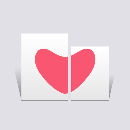 Symbol of love with sweet background, greeting card, Happy Valentines.vector illustration