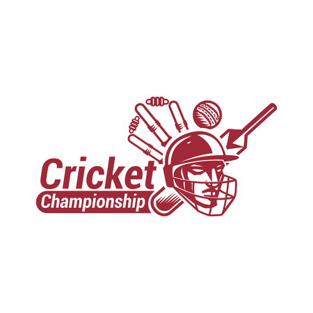 Cricket championship with creative design illustration.