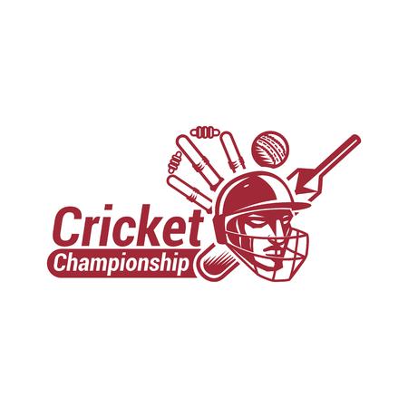 Cricket championship with creative design illustration.
