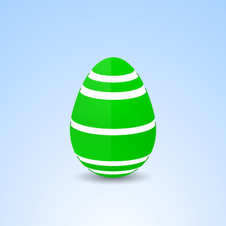 Green easter egg with pattern Çizim