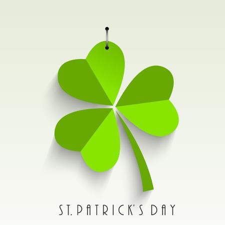 세인트 Patricks 하루의 녹색 잎
