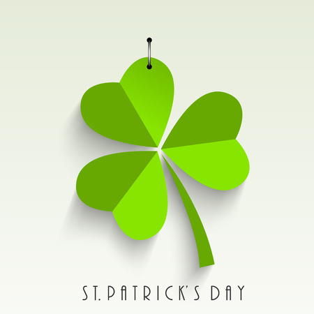Green leaf of St. Patricks day