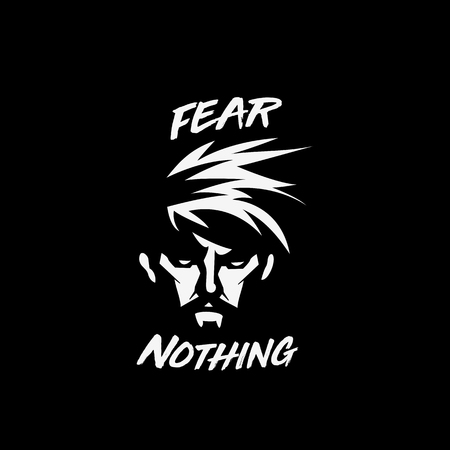 Nothing to fear conceptual in black background vector iiiustration Çizim