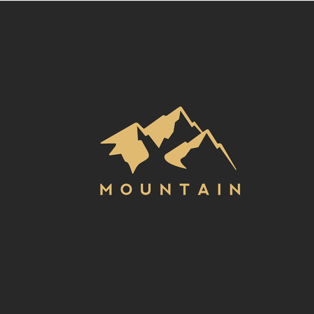 goiden mountain with vector illustration