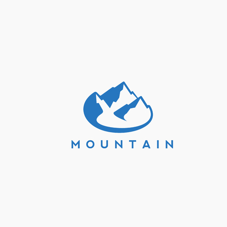 blue mountain with vector illustration. Illustration