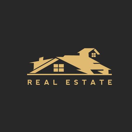 Golden home icon vector design.