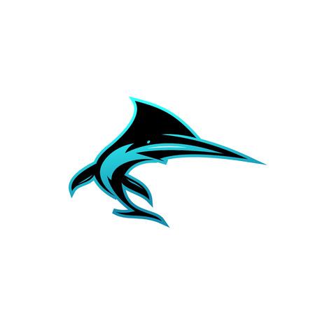 Creative vector symbol of shark.