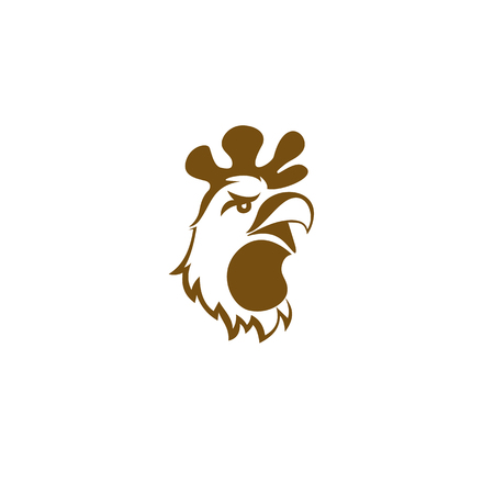 golden chicken on white background vector illustration design.