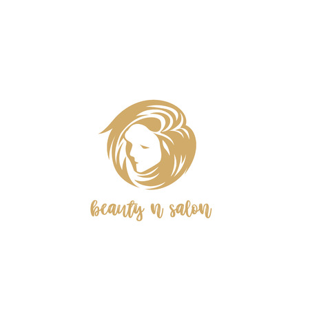 A women face with beautyful hairs on white background with typography vector illustration design.