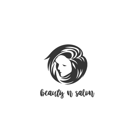 a beautiful female face with hair icon on white background vector illustration design.