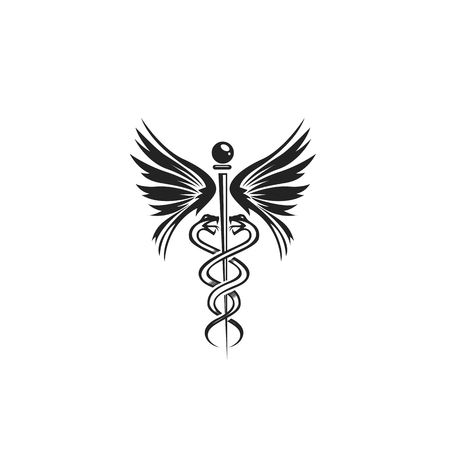 minimal icon of doctors symbol on white background vector illustration design.