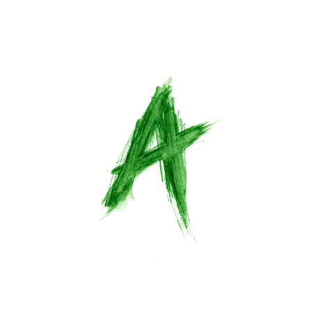 letter a symbol vector illustration