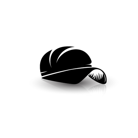 minimal logo of rapper cap vector logo illustration.