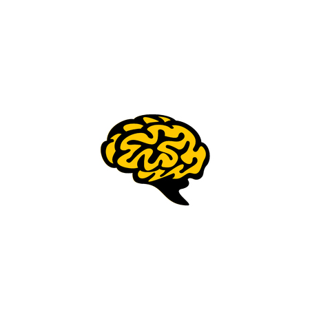 Human brain vector illustration