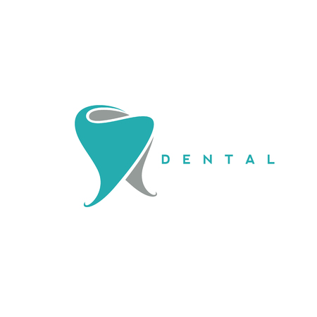 minimal logo of dental symbol vector illustration Çizim
