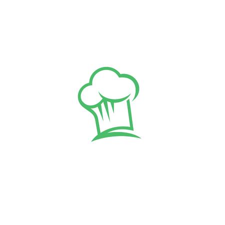 green chef hat on white background vector illustration design.