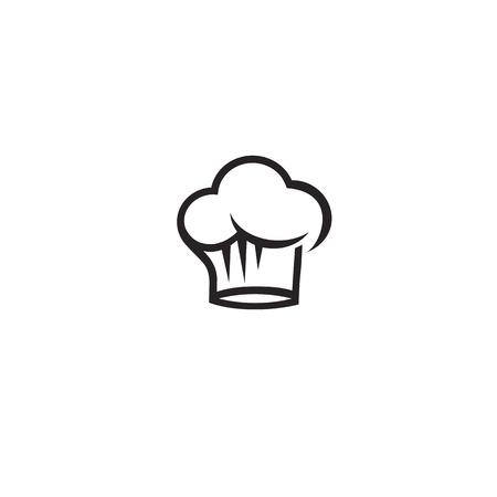 Logo minimal d'illustration vectorielle de chef chapeau noir