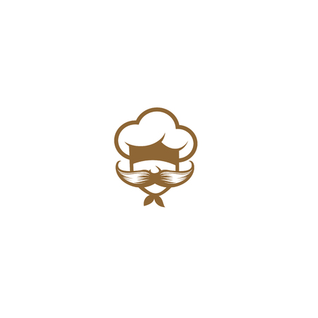 Chef with large mustache vector illustration Illustration