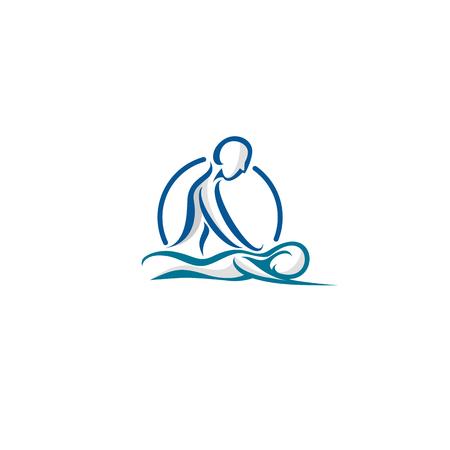 Body Spa Centre icon on white background illustration design.