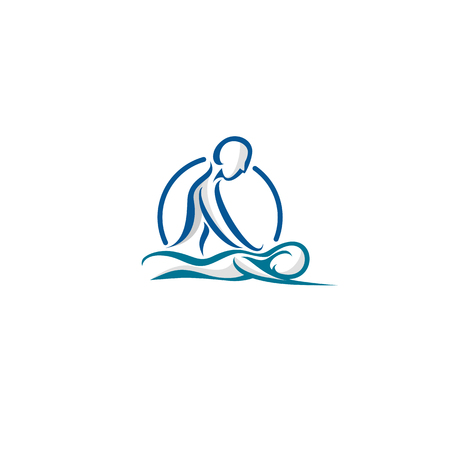 Body Spa Centre icon on white background illustration design.