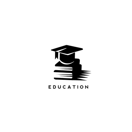 minimal logo of education vector illustration