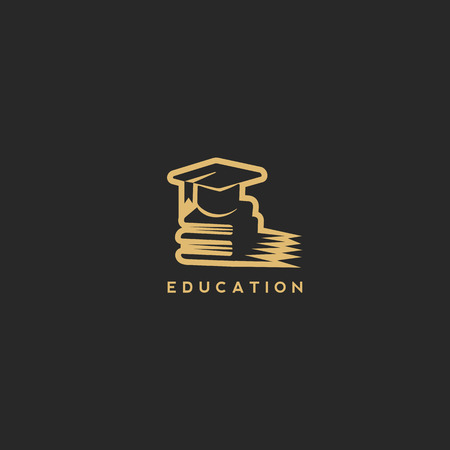 Business education logo vector illustration.