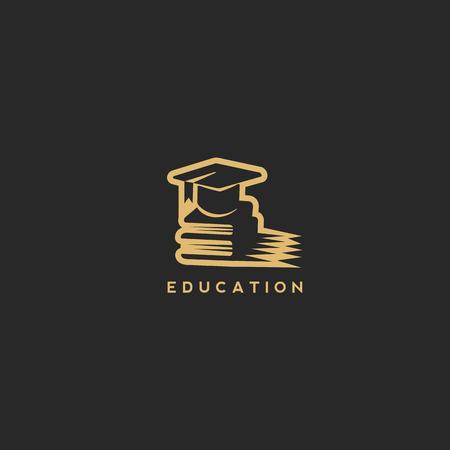 Business education logo vector illustration.