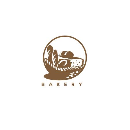 Bakery icon design Illustration
