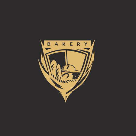 Golden bakery shield design