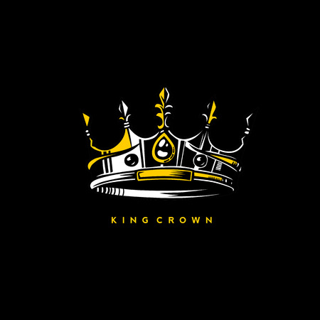 A minimal logo of king crown vector illustration Illustration