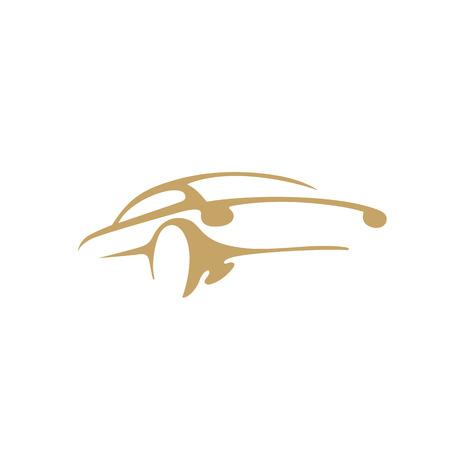 Minimalne logo ilustracji wektorowych samochodu
