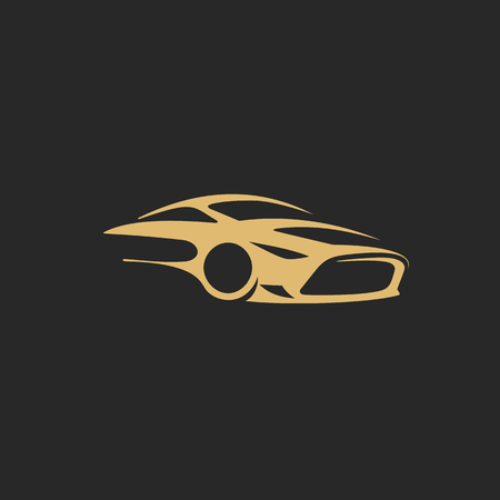 Gold car icon template vector illustration.