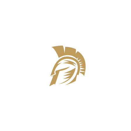Golden Spartan on white background vector illustration design.