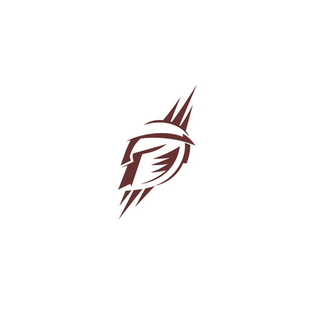 Gladiator spartan logo on white background vector illustration design.