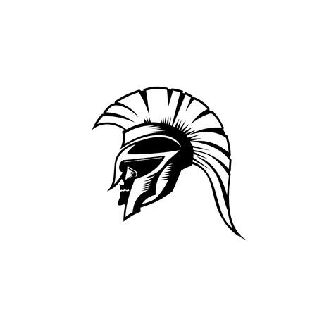 An illustration of Spartan roman greek helmat.