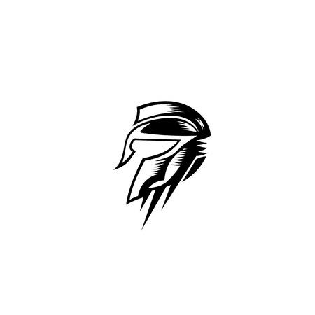 Spartan Gladiator helmet Logo Template vector illustration Illustration