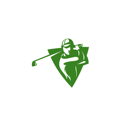 Player inside shield icon vector illustration.