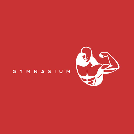 White gymnasium icon vector illustration.