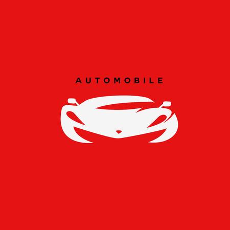 White automobile car vector illustration.