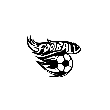 Minimal logo of football vector illustration