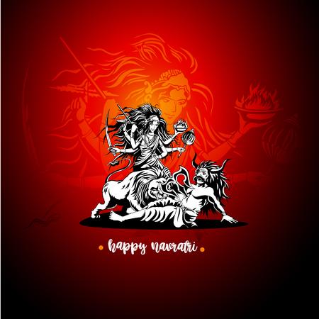 Durgadevi with mahisasuramardini vector illustration design.