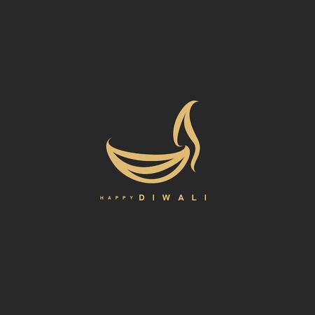 Diwali art vector illustration.