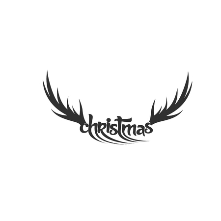 Deer horn vector illustration. Illustration