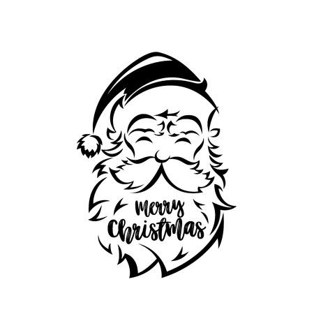 Santa Claus face on white background vector illustration design. 向量圖像