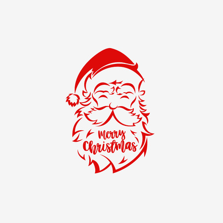 Santa Claus hat and beard on white background vector illustration design.