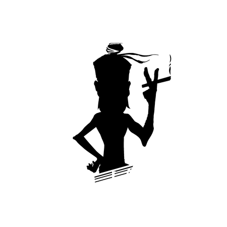 Man with a cigaratte on white background vector illustration design. Illustration
