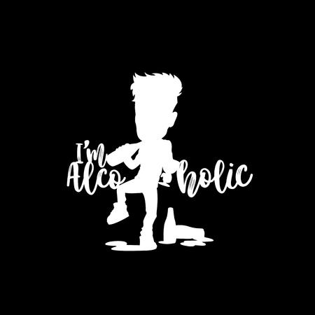 Drinking alcoholic logo vector illustration design.