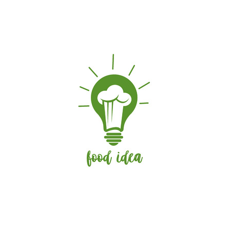 Green food idea vector illustration. Çizim